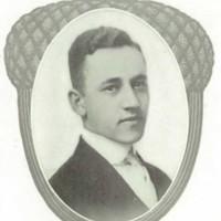Robert Allen Gibbons senior portrait from the 1914 Roanoke Valley Christian High School yearbook.jpg